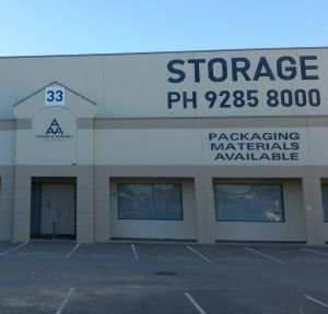 Office Storage Perth, storage in a convenient location to hold excess furniture, office desk and chairs.
